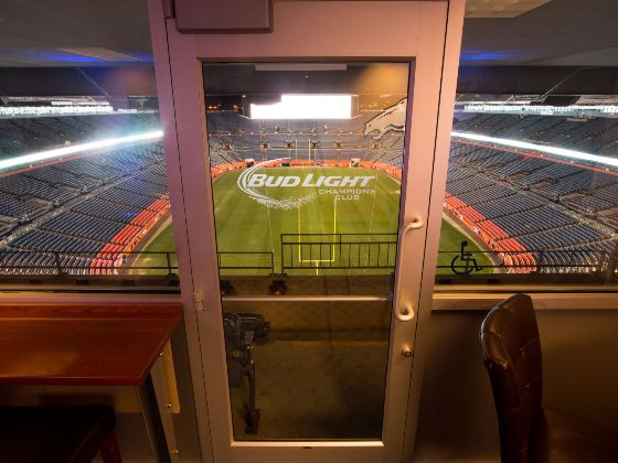 Bud Light Champions Club entrance into stands spotlight 560x420