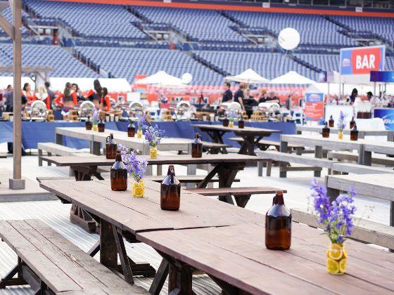 table setup on a field event spotlight 560x420