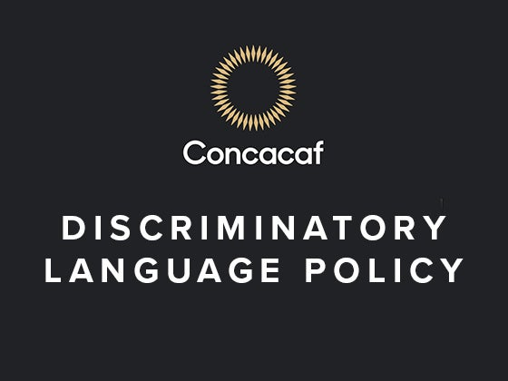 More Info for Concacaf Nations League: Discriminatory Language Policy